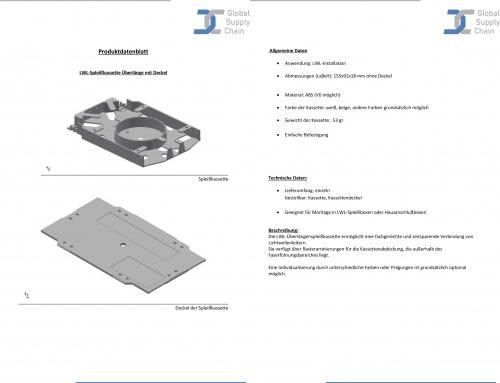 Produktdatenblatt Spleißkassette-Überlänge