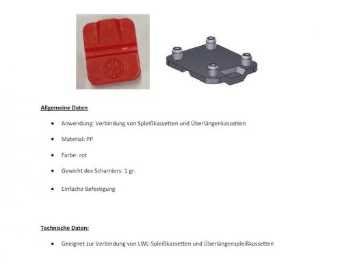 Produktdatenblatt Scharnier rot