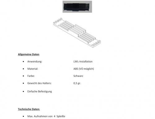 Produktdatenblatt Spleißschutzhalter 4-adrig